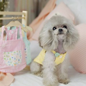 Майки для домашних животных SHEIN. Цвет: многоцветный