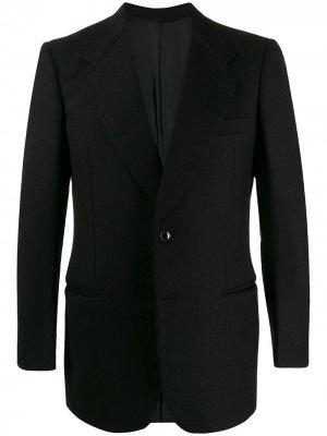 Фактурный вечерний пиджак 1970-х годов A.N.G.E.L.O. Vintage Cult. Цвет: черный