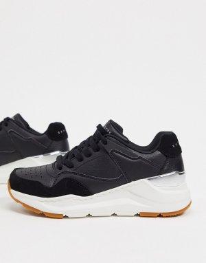 Черные кроссовки Rovina-Черный цвет Skechers