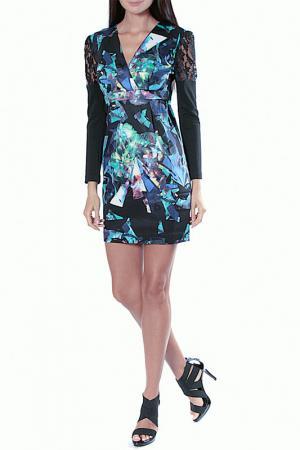 Платье Aftershock. Цвет: black, multi