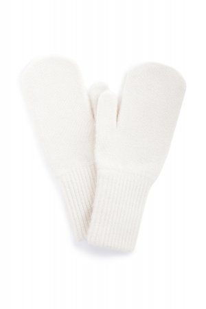 Варежки baon. Цвет: белый