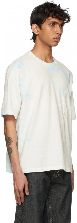 Multicolor Tie-Dye Big T-Shirt Kuro. Цвет: blue marble