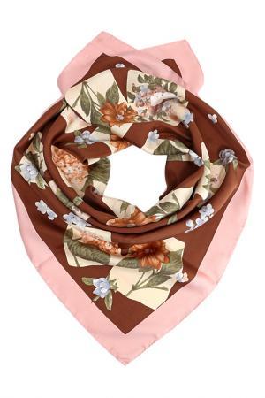 Платок F.FRANTELLI. Цвет: розовый, ваниль, коричневый