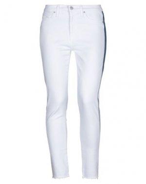 Джинсовые брюки HUDSON. Цвет: белый