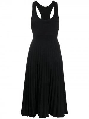 Платье со спинкой-рейсер и плиссировкой Gianfranco Ferré Pre-Owned. Цвет: черный