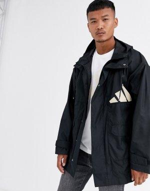 Черная куртка adidas Training back-Черный performance