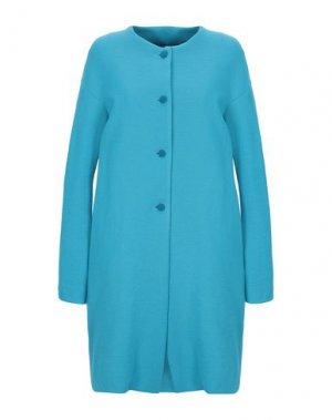 Легкое пальто ANDREA TURCHI. Цвет: лазурный