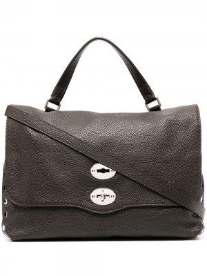 Большая сумка-тоут Postina Zanellato. Цвет: коричневый