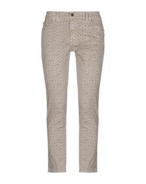 Повседневные брюки CANNELLA. Цвет: светло-серый