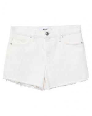 Джинсовые шорты HUDSON. Цвет: белый