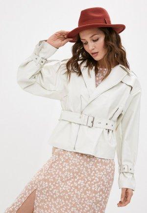 Куртка кожаная Diverius. Цвет: белый