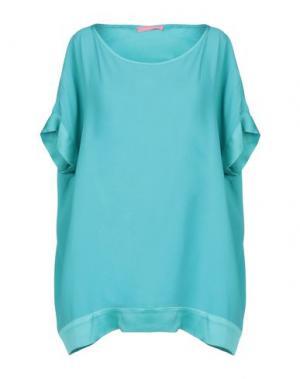 Блузка FRANCESCA FERRANTE. Цвет: бирюзовый