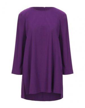 Короткое платье 1-ONE. Цвет: розовато-лиловый