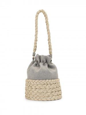 Большая сумка-ведро Freja 0711. Цвет: серый