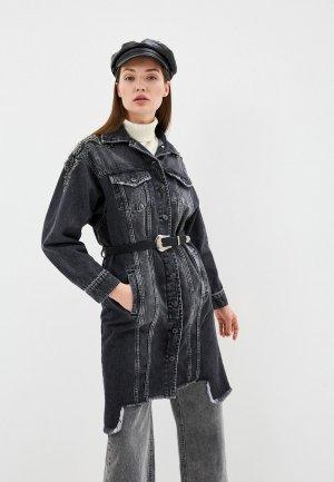 Куртка джинсовая DSHE. Цвет: серый