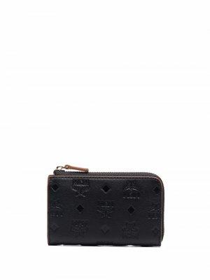 Мини-кошелек с монограммой MCM. Цвет: черный
