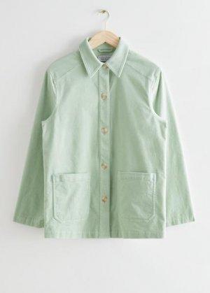 Свободная джинсовая куртка с накладными карманами &Other Stories. Цвет: зеленый