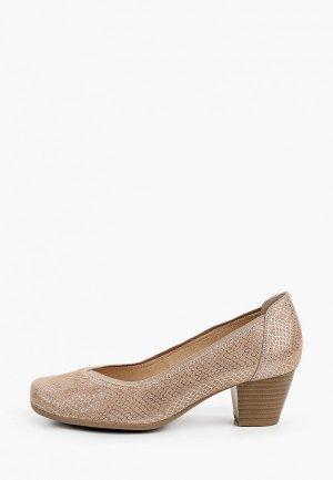 Туфли Caprice увеличенная полнота H, Comfort. Цвет: бежевый