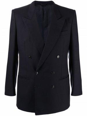 Двубортный пиджак 1990-х годов с заостренными лацканами Pierre Cardin Pre-Owned. Цвет: синий