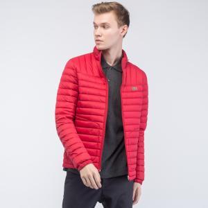 Куртка Легкий пуховик Lacoste. Цвет: красный
