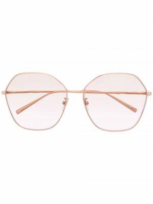 Солнцезащитные очки в массивной оправе Givenchy Eyewear. Цвет: золотистый