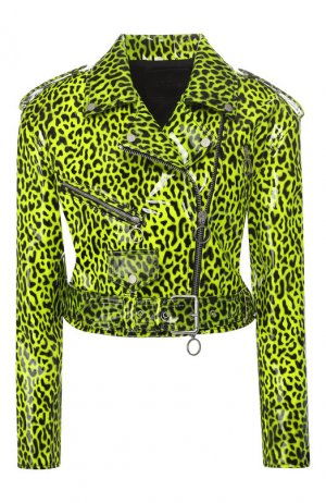 Кожаная куртка DROMe. Цвет: зеленый