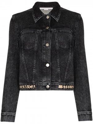 Джинсовая куртка с логотипом Stella McCartney. Цвет: черный
