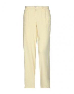 Повседневные брюки CYCLE. Цвет: светло-желтый