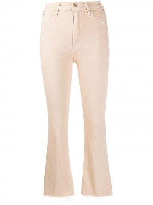 Расклешенные брюки Mother. Цвет: нейтральные цвета