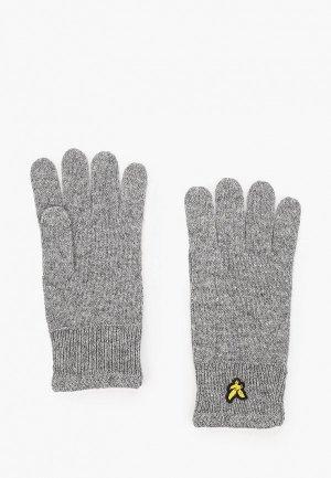 Перчатки Lyle & Scott Racked Rib Glove. Цвет: серый