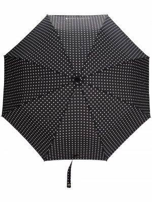 Складной зонт с телескопической ручкой Mackintosh. Цвет: черный