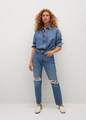 Нарочно рваные джинсы relaxed - Relax Mango. Цвет: синий средний