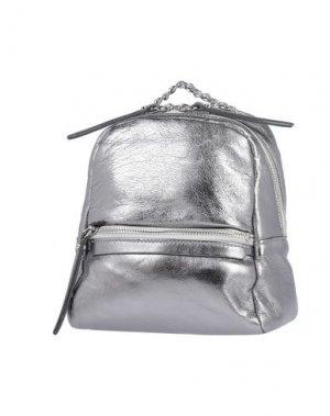 Рюкзаки и сумки на пояс GIANNI CHIARINI. Цвет: серебристый