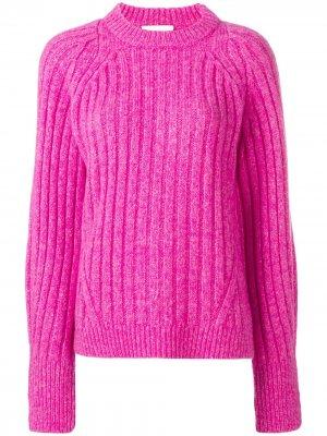 Пуловер в рубчик с круглым вырезом 3.1 Phillip Lim. Цвет: розовый