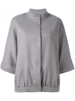 Куртка бомбер с широкими рукавами Eleventy. Цвет: телесный