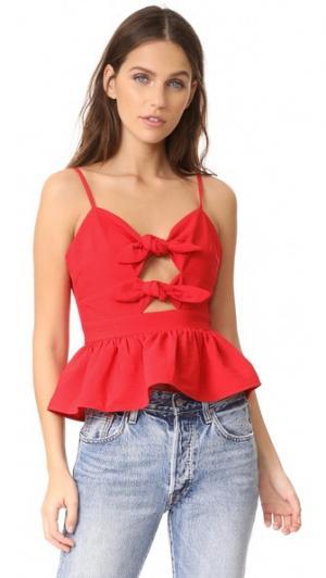Майка с завязками спереди J.O.A.. Цвет: красный