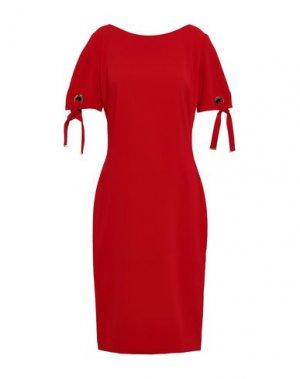 Платье до колена BADGLEY MISCHKA. Цвет: красно-коричневый