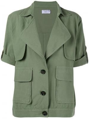 Жакет с большими карманами Frame Denim. Цвет: зелёный
