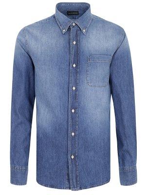 Рубашка джинсовая Baldessarini. Цвет: разноцветный