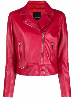 Байкерская куртка Pinko. Цвет: красный