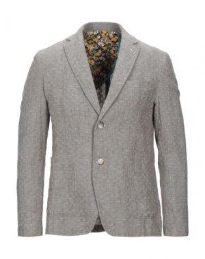Пиджак BERNA. Цвет: хаки