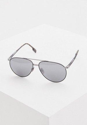 Очки солнцезащитные Burberry BE3108 12956G. Цвет: серебряный