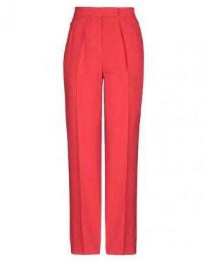 Повседневные брюки EDUN. Цвет: красный