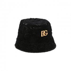 Панама из хлопка и шелка Dolce & Gabbana. Цвет: чёрный