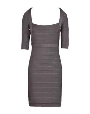 Короткое платье HERVÉ LÉGER. Цвет: свинцово-серый