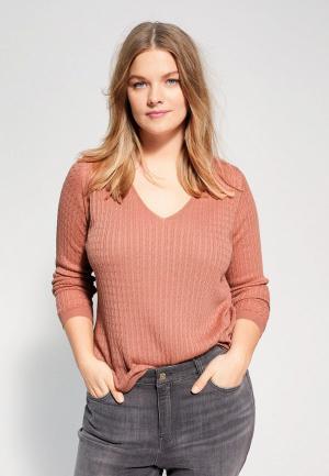 Пуловер Violeta by Mango - CABLE. Цвет: коралловый