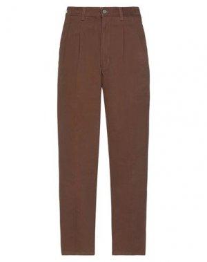 Повседневные брюки DOCKERS. Цвет: коричневый