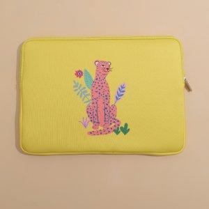Сумка для ноутбука 13 дюймов с леопардовым принтом SHEIN. Цвет: жёлтые