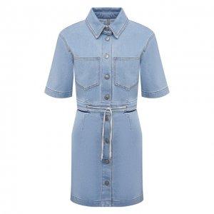 Джинсовое платье Nanushka. Цвет: голубой