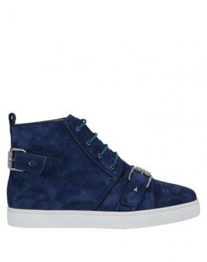 Высокие кеды и кроссовки CHRISTIAN LOUBOUTIN. Цвет: темно-синий